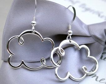Sterling Silver Cloud earrings with Sterling earwires