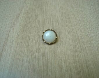 button tail two tone vintage ivory & gold