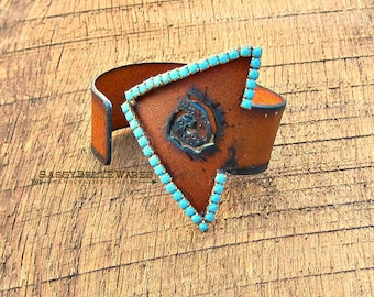 Rustic Arrow with Rhinestones Cuff Bracelet turquoise country western girl glam chic fashion style festival ready adjustable