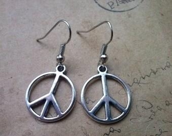 Peace - earrings ~ silver ~