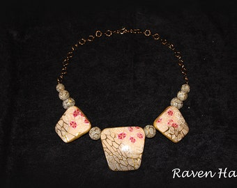 Cherry Blossom Necklace - Polymer Clay