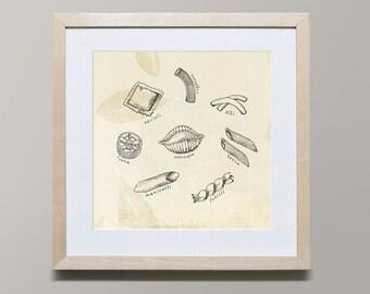 Pasta Series 2 by Iveta Abolina -  Illustration Print