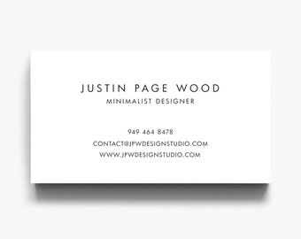 Simple business card etsy business card design business card template business cards calling cards modern business colourmoves Gallery