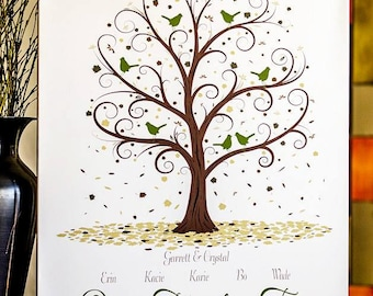 Family Tree Print - 11x14 - Personalized Family Tree - Family Tree - Custom Family Tree
