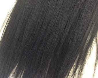 "black (1) 100% human hair clip in extensions   14""  18""  20"""