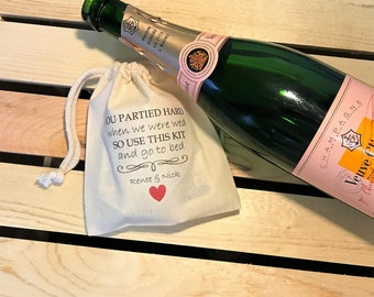 You Partied Hard... Set of 8 Hangover Kit Bags