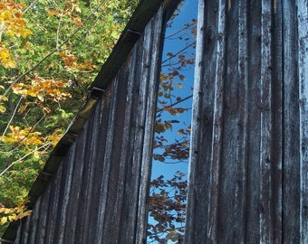 Barn Reflections where Tom Thomson lies - Group of Seven, blank greeting card, write your own msg