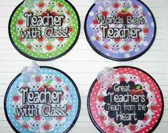 Teacher Appreciation, Teacher Gift, Teacher, Owls, Apples, Colorful, Gifts for Teachers, Magnet, back to school, School, Teaching, Student,