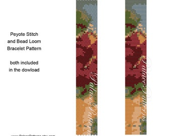 PP70 - Even Count Peyote Stitch Bracelet Pattern - Bead Loom Bracelet Pattern