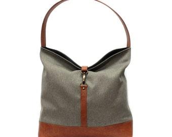 Brown Hobo Bag, Brown Shoulder Bag, Boho Bag, Vegan Handbag, Faux Leather Handbag, Vegan Leather Purse, Tan Tote Bag, Sac à Main Végétalien