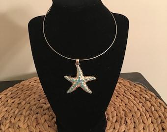 Starfish Pendant Necklace Beach Summer