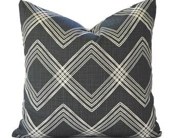 Black Pillow Covers ANY SIZE Decorative Pillows Pillow Inserts Best Pillow Floor Pillows Euro Pillows Premier Prints Colton Black Flame Slub