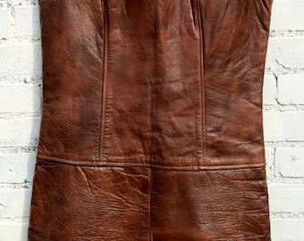 Vintage 60's leather dress