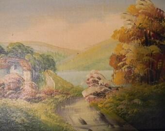 Signed Vintage Landscape Oil Painting