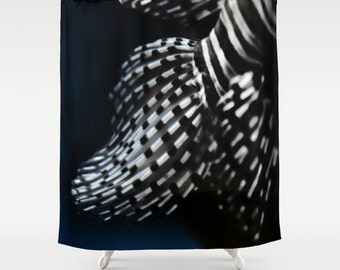 Red Lionfish Fins,Shower Curtain,modern,home,bathroom,nature,fine art,photography,inspirational,happy,bath,refreshing,sea,ocean,fish,stripes