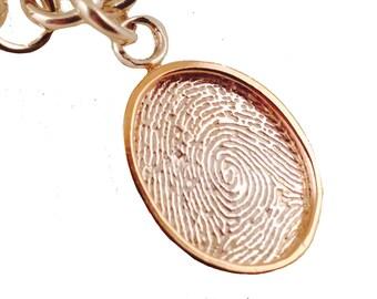 Fingerprint Charm Bracelet by donnaodesigns