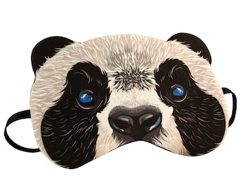 Panda Sleep Mask - Canvas, Hand-made, A Great Gift for Easter, Mother's Day, Gift for Her, Gift for Him Girlfriend, Boyfriend, Birthday