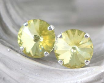 Jonquil Yellow | Swarovski Crystal | Stud Earrings | Summer Wedding | Soft Yellow Wedding | Wedding | Bridal | Yellow Earrings | Gift Idea