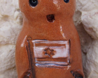 PEACE GOLEM - Soulless Golem One of a Kind Magical Mythical Protector Ceramic Figurine