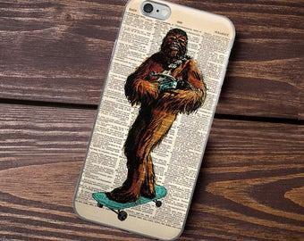 CHEWBACCA Skateboarding iPhone 6s case, iPhone 6 plus Cover, iPhone 7 8 X Case, iPhone 7 Plus, Cover Dictionary Art Print Star Wars