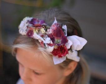 Hard Headbands, Girls accessories, Christmas headband, Floral headband