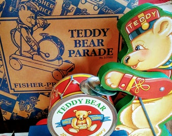 Vintage Fisher Price Commemorative Teddy Bear Parade