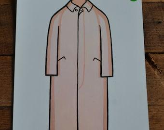 Peabody Language Educational Vintage Flashcard - Womens Dress Coat Jacket