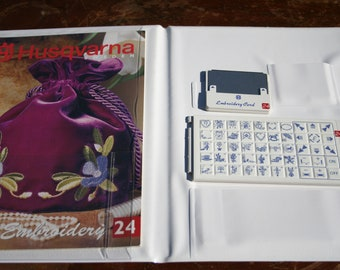 Husqvarna Viking Card Cassette Booklet Embroidery 24 for Viking 1+ Sewing Machine