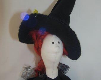 Imelda, cloth doll witch