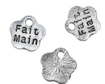 5 pendants charms hand made Charms in silver
