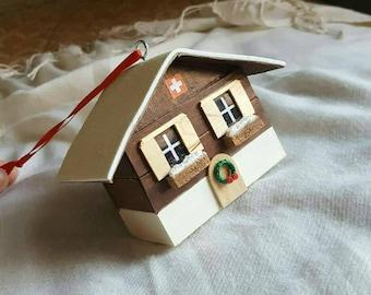 Swiss Chalet Christmas Ornament