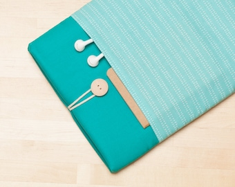 Surface Pro cover, Surface Laptop sleeve, Surface Laptop Cover, Surface  Pro 4 Case, padded with pockets - Turquoise lines in teal