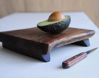 Serving Tray, Small Walnut Prep Platte, Rustic Hostess Gift