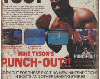 """Mike Tysons Punch Out Nintendo NES 10"""" x 7"""" reproduction metal sign"""