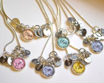 6 best friend necklaces 6 friendship necklace, personalized name friendship necklaces