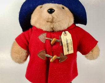 "Vintage 15"" Paddington Bear Stuffed Plush  Darkest Peru Eden Toys ~ England"
