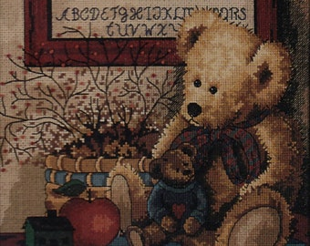 Creative Accents Counted Cross Stitch Kit, #7964, Antique Teddies, Anna Krajewski, cross stitch, needlework, home decor, interior decoration