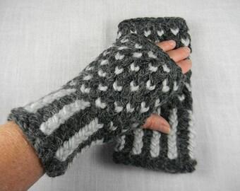 Wrist Warmers, Hand Knit Fingerless Gloves, Hand Knit Fingerless Mittens, Arm Warmers