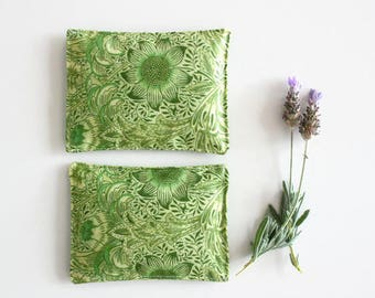 Sunflower Green Lavender Sachets -  Set of 2 - Lavender Pillows - Mother's Day Gift - Drawer Sachet Aromatherapy