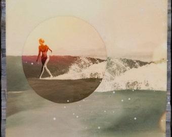 Cross Step A-Z by BB, Giclee, 8x8 and Up, Belinda Baggs, Surfing, Ocean, Ocean Art, Hanging Art, Wall Art, Surf Art, Belinda Baggs, Sepia