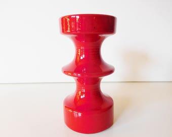 Steuler ceramic candleholder, Red, by Cari Zalloni, Germany, WGP