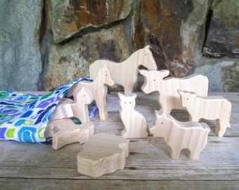 Wooden animal toys - farm animals - Wooden toys