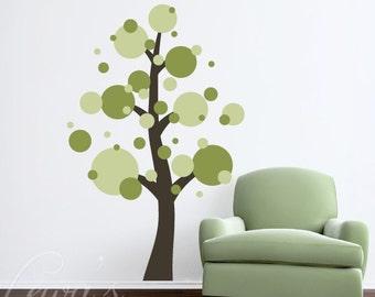 Polka Dot Tree Vinyl Wall Decal