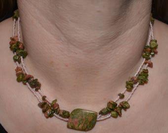 Unakite Multi-strand Necklace