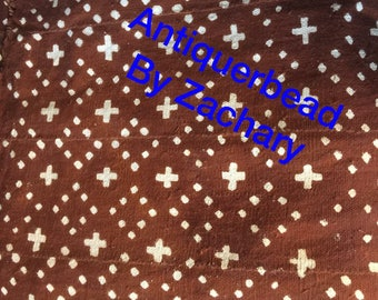 mali mudcloth fabric Textile colors is chocolate  brown