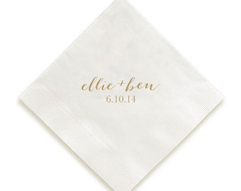 Personalized Napkins and Guest Towels- Calligraphy Names, Wedding, Party, Home, Gifts