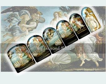 Botticelli's Birth of Venus Nail Art Set of 24 Full Nail Fusion Decals by Inspired Nails