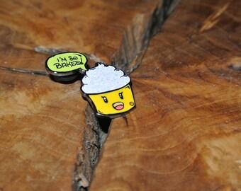 I'M SO BAKED- cupcake hat pin- GLOW
