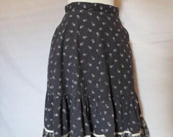 VTG Jessica's Gunnies Flowered Rockabilly Skirt