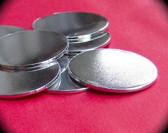 "100 Scratched 1/2"" Discs 18 Gauge RAW Unfinished Pure Food Safe Aluminum"